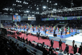 "Eröffnungsfeier der Finalrunde des internationalen Ringerturniers ""Golden Grand Prix"" in Baku"