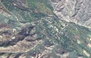 Satellitenbild der Region Zangilan in Aserbaidschan